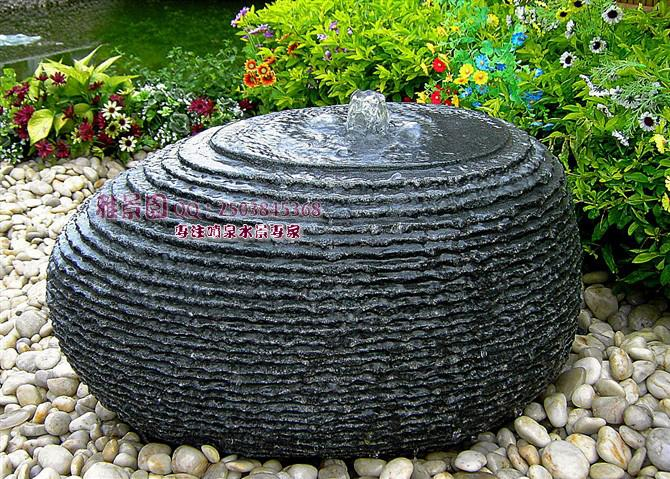 Outdoor garden patio water feature hand carved black for Garden decking ornaments