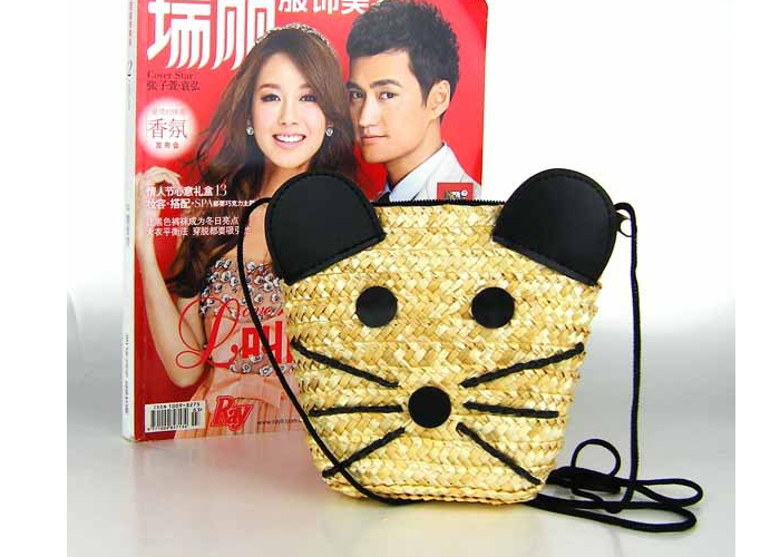 New Arrivals Messenger Bags For Women Super Kawaii Mouse Shoulder Bags Lovely Tote Trendy Shoulder Bag For Beach And Travel(China (Mainland))
