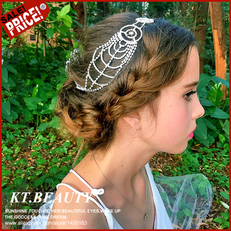 2015 New Luxury Wedding Crown 2 Designs Silver/Gold Plated Tiara Heart Rhinestone Crystal Bridal Headband Hair Jewelry Best Gift(China (Mainland))