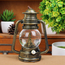 Free shipping vintage Europe LED lantern 14*10*7 home decoration birthday gift(China (Mainland))