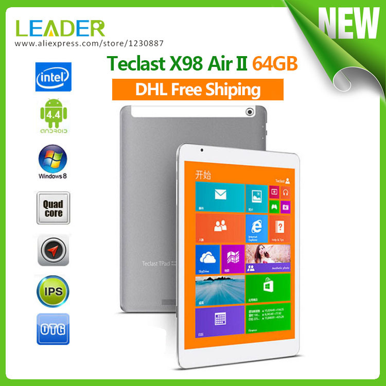 Планшетный ПК Teclast X 98 II Windows 8.1 4.4 Android Tablet pc 64 2 IPS 2048 X 1536 Intel Z3736F 2 5MP brian livingston more windows® 98 secrets®