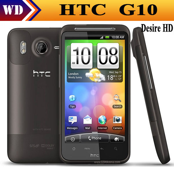 G10 Original Unlocked HTC Desire HD A9191 Android 2.2 1GHz 3G GPS WIFI 8MP Cell phone refurbished(China (Mainland))