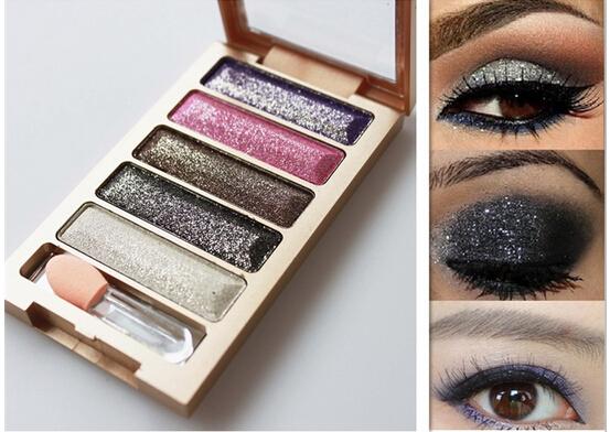 Hot Cosmetics 6 Colors Eyeshadow Makeup Eye Shadow Palette Beauty Super Flash Diamond Eyeshadow High Quality Glitter With Brush(China (Mainland))