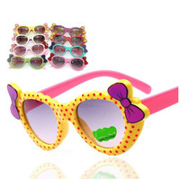 Fashion princess bowknot heart sunglasses Glasses Eyeglasses eyeware anti UV 400 for kids girls child  Wholesale