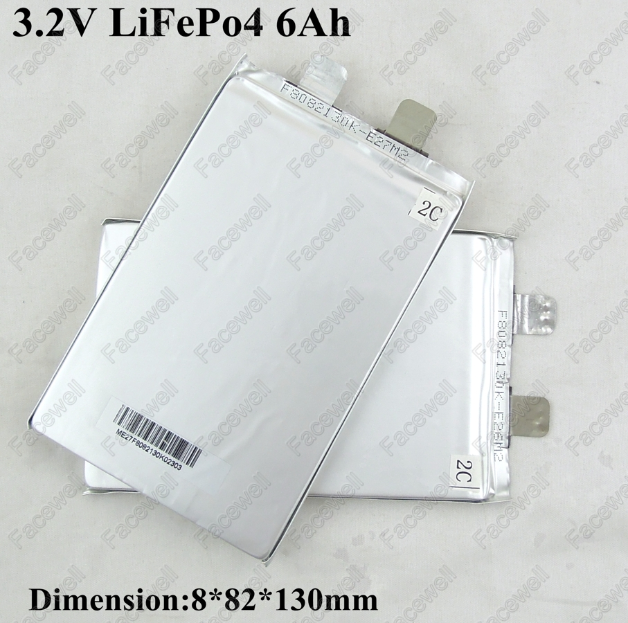 Batería de lifepo de unos 5 ah 10pcs-Real-LiFePo4-3-2V-6ah-3-2v-5Ah-prismatic-lifepo4-battery-3-2v-cell-5000mAh