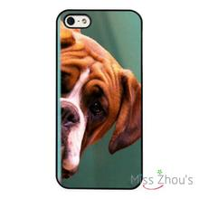 Boxer Dog Cute Funny back skins mobile cellphone cases cover for iphone 4/4s 5/5s 5c SE 6/6s plus ipod touch 4/5/6