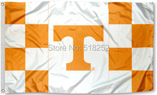 University of Tennessee Volunteers Flag 3x5 FT 150X90CM Banner 100D Polyester flag brass grommets 096, free shipping(China (Mainland))