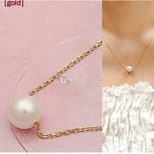 Nowy naszyjnik 2018 nowa moda proste sztuczna Pearl Temperament krótki naszyjnik nowoczesny naszyjnik z pereł hurtownie dzika kobieta(China)
