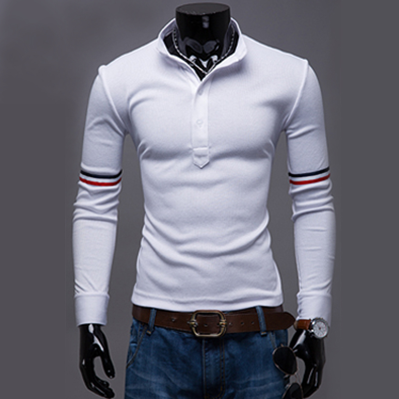 2015 new brand design men polo shirt solid color stitching for Original stitch shirt review