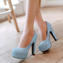 Large Big size 31-47 New Women Pumps Sexy Thin High Heels Round Toe Print Party Evening Wedding Shoes Woman Platform Pumps(China (Mainland))