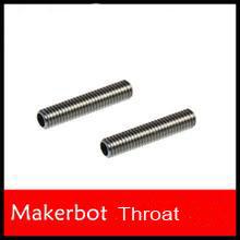 High Quality 5pcs/lot 30mm*M6 Nozzle Throat For Reprap Makerbot 3D Printer Extruder Hot End 1.75mm 3d printer parts