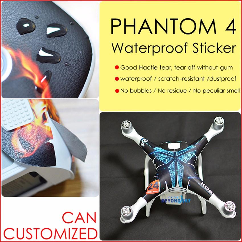 DJI phantom 4 Sticker PVC Decal Aerial aircraft stickers fuselage waterproof scratch battery remote accessories