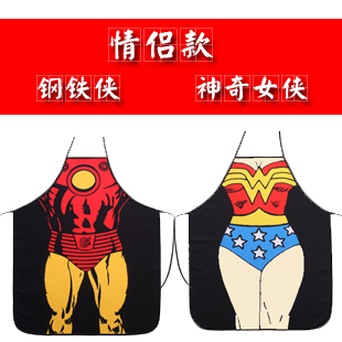 """sexy apron for woman """"Bag mail"""" sell aprons/steel/xia female superman couples strong personality whimsy creative gift apron(China (Mainland))"""