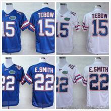 Florida Gators #22 Emmitt Smith Blue White Embroidery Logo College Jersey(China (Mainland))