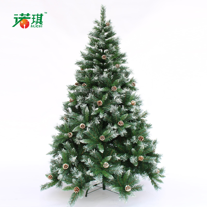 210cm quality white mixed christmas tree 2.1 meters white pinecone Christmas decoration(China (Mainland))