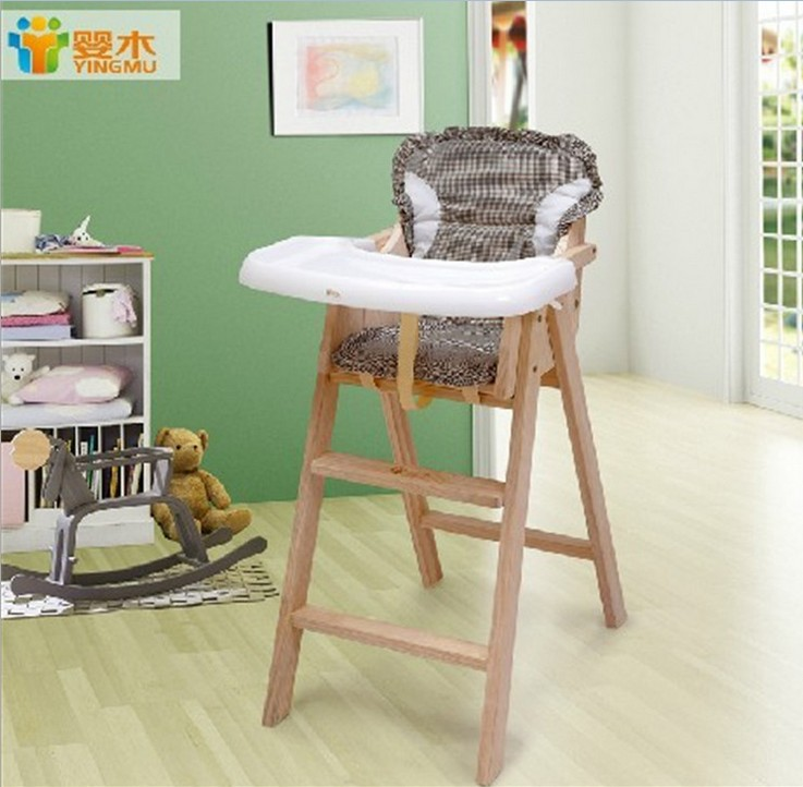 Small solid wood child dining chair baby portable folding tables and chairs b
