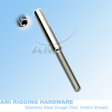 M5 R, 3mm wire, Swage stud,  T02-0305-01 stainless steel 316, cable end fitting, wire rope fitting, cable railing, deck railing(China (Mainland))