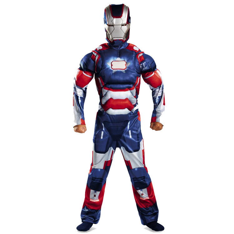 Hot Sale Iron Man 3 Iron Patriot Muscle Child Superhero Halloween Costume Kids Fantasy fancy dress Carnival party Disfrace(China (Mainland))