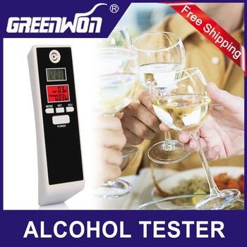 Free Shipping Hot Sale Digital Backlight Alcohol Breath Tester Detector with Double LCD Breathalyzer drop shipping with track