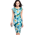 Show thin big code dress 2017 European and American fashion print dress