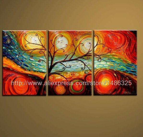 The Dreaming Tree Series Modern Wall Canvas Picture Restaurant Decoration Bathroom Background Oil Paintings On Canvas Wal(China (Mainland))