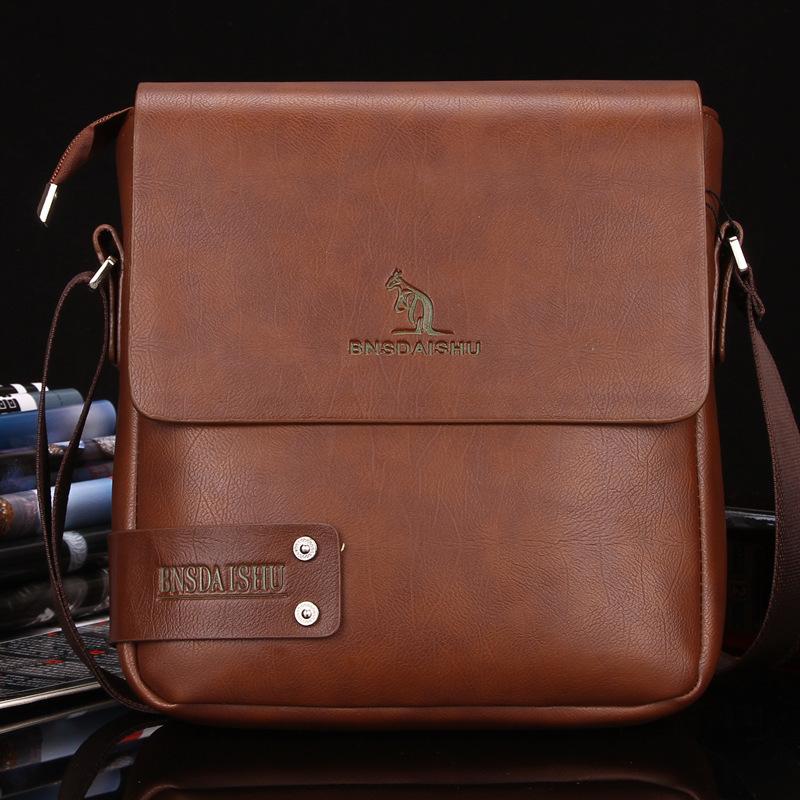 New Arrival Brand kangaroo men's messenger bag fashion shoulder bag Men's business crossbody bag Free Shipping(China (Mainland))