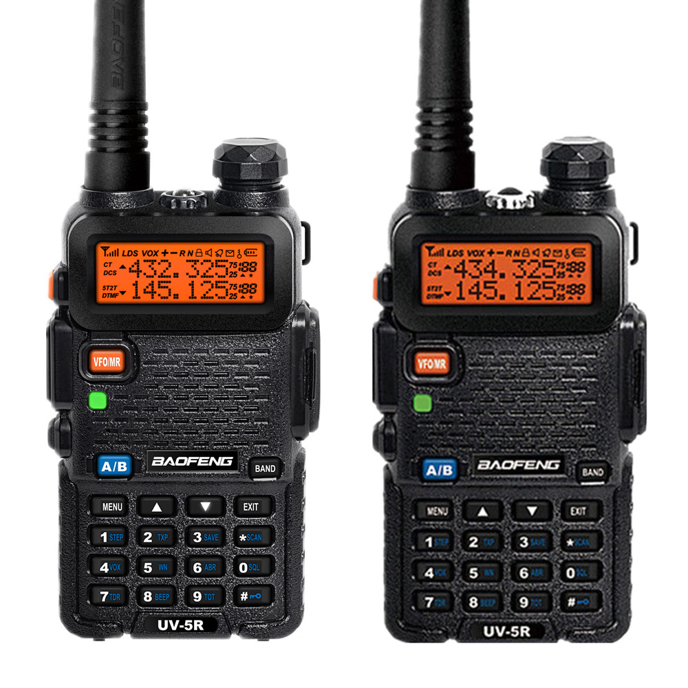 2 PCS BAOFENG UV-5R two way radio walkie talkies VHF/UHF Dual Band portable Radio Ham Handheld Tranceiver FM Radio(China (Mainland))