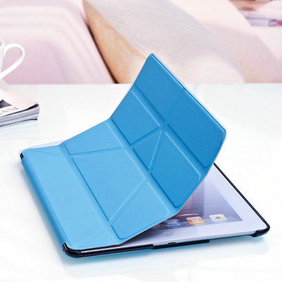 4 Shapes Stand Design Magnetic Leather Case for ipad 4 3 2 Smart Cover Smartcover for
