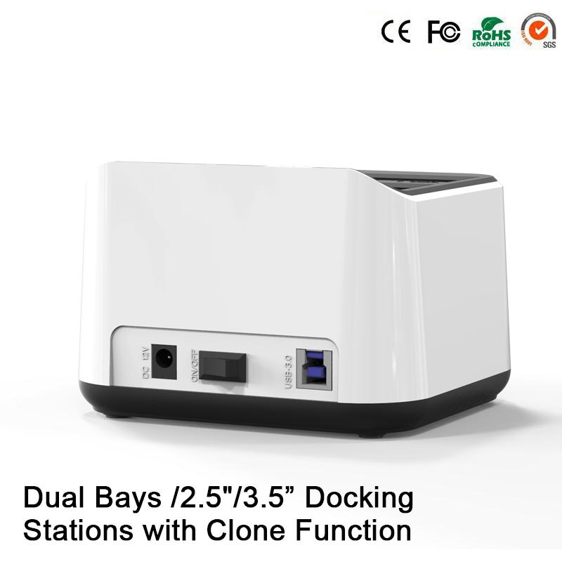 2 bay usb 3.0 hdd enclosure carcasa para disco duro usb hdd enclosure dual hard drive disk enclosure usb all in 1 hdd docking(China (Mainland))
