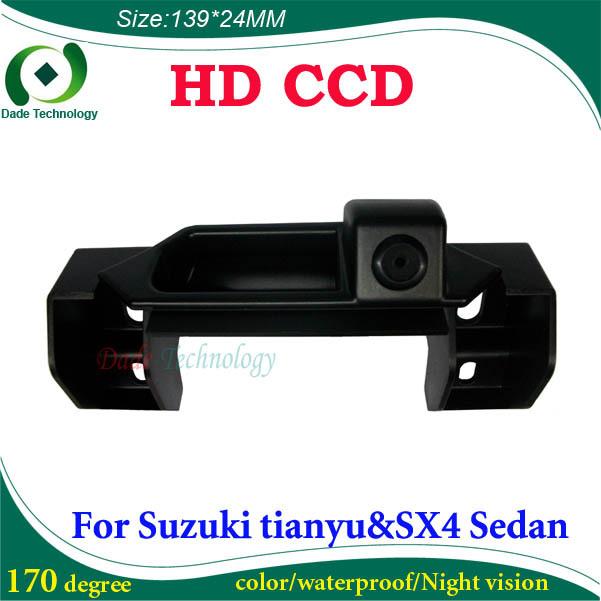 Night vision CCD HD car backup camera car reverse camera For Suzuki tianyu SX4 Sedan waterproof color car parking camera(China (Mainland))
