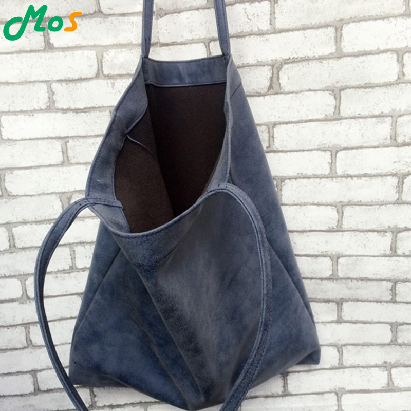 2015 hot sale early autumn new shopping PU handbag large Nubuck Leather shoulder bag