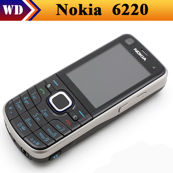 6220c unlocked original nokia 6220 classic mobile phones bluetooth GPS MP3 player free shipping(China (Mainland))