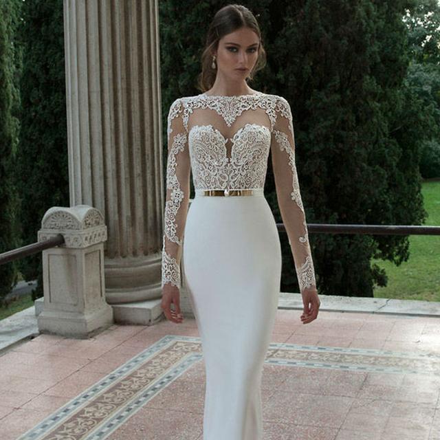 2016 Элегантный Sexy Свадебные Платья Атласная Свадебные и События Платья Жилетidos ...