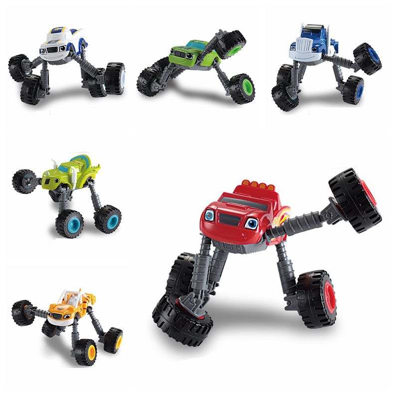 Hot Sale Adjustable Blaze Car Truck Model Monsters Machines Racing Car Toys Mud Racin Pickle Darrington Zeg Crusher Stripes Toy(China (Mainland))