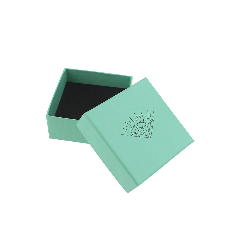 28pieces/lot hot selling paper gift boxes with diamond acid blue wholesale jewelry pendant box 7.3*7.3*3.5cm(China (Mainland))