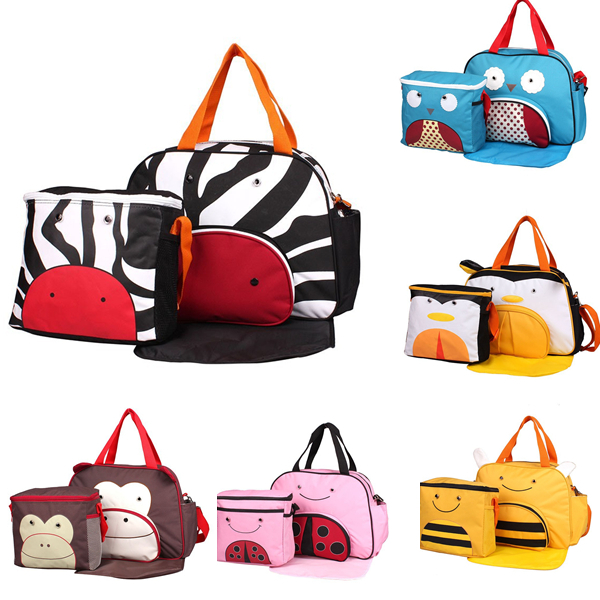 Hot sale mommy baby diaper bags brand animal travel nappy handbags bebe organizer tommy stroller for maternity and infant/157(China (Mainland))