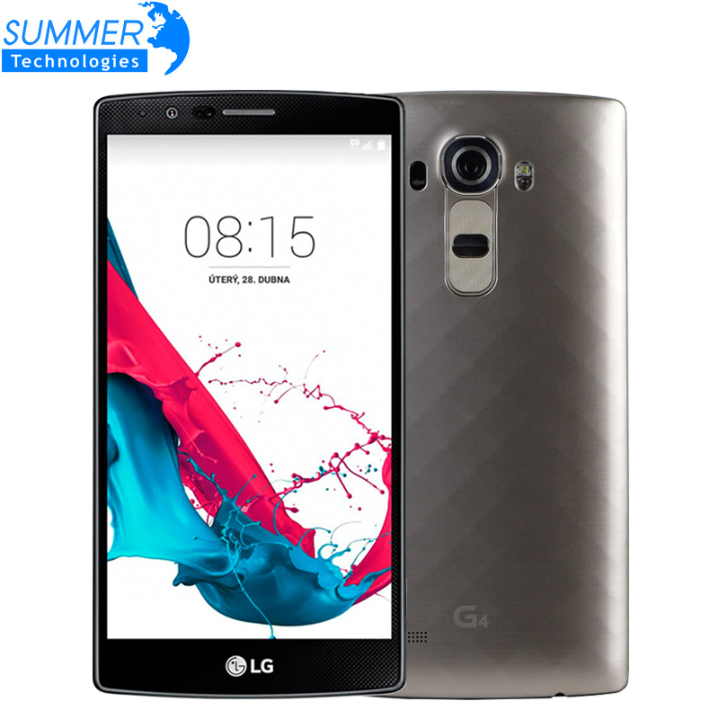 """Original Unlocked LG G4 H815 H810 Hexa Core Cell Phones 5.5"""" 3GB RAM 32GB ROM 16MP Leather Cover Refurbished Mobile Phone(China (Mainland))"""