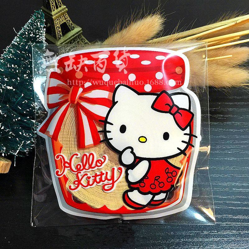 <100pcs/lot> Hello kitty candy box bag baby shower favors kids birthday party supply wedding decoration gift souvenirs(China (Mainland))