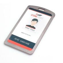 DEZHI металлический двойной-односторонний визуальный ID держатель для карт с роскошным шейным ремешком, поверхность матового держатель для ка...(China)