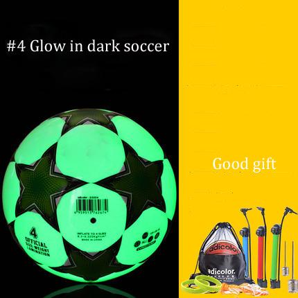 luminous football 4 5ball standard adult football training ball child glow in dark soccer good quality soccer ball glowing ball(China (Mainland))