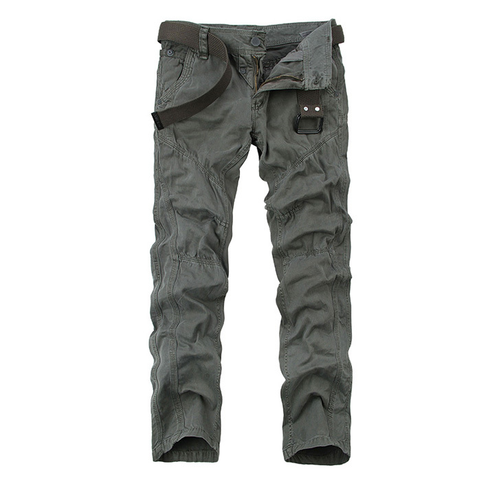 2015 Autumn Men's Loose Outdoor Cargo More Practical Pocket Design Fashion Casual Cotton men Pants drop shipping MKX150(China (Mainland))
