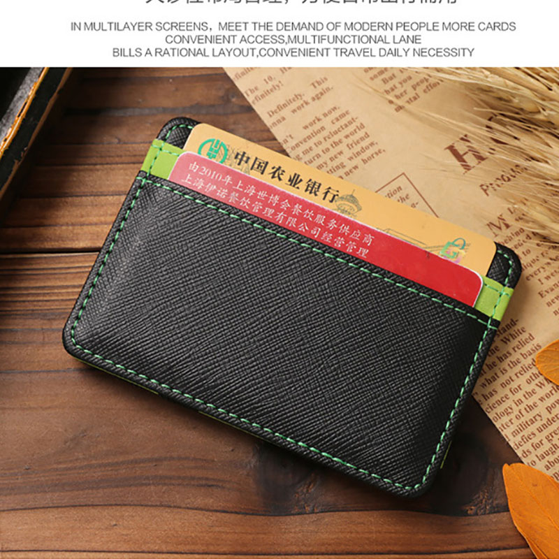 Mens Genuine +pu Minimalist Money Clip Front Pocket Wallet,slim wallets,business card holder,Card Case Wallet Slim Super Thin <br><br>Aliexpress
