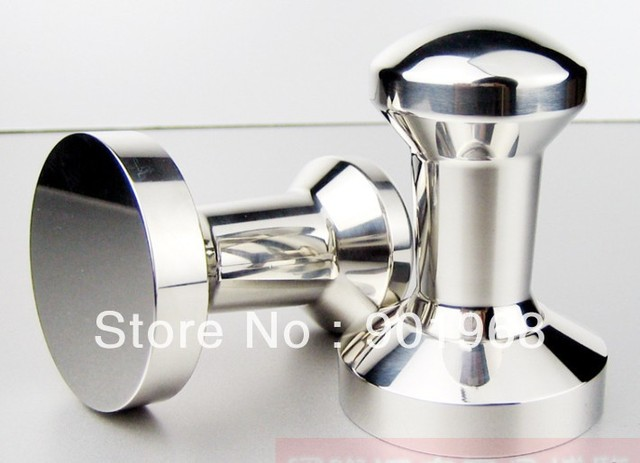 [Free shipping]Supper heavy  Dia57.5mm solid stainless steel coffee tool coffee tampers-espresso tool