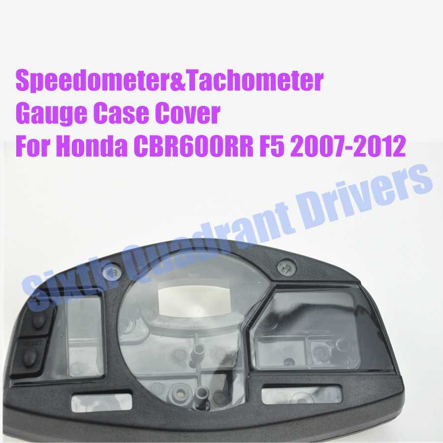 Motorcycle Replacement Speedometer Tachometer Gauge Case Cover For Honda CBR600RR F5 2007 2008 2009 2010 2011 2012 Custom