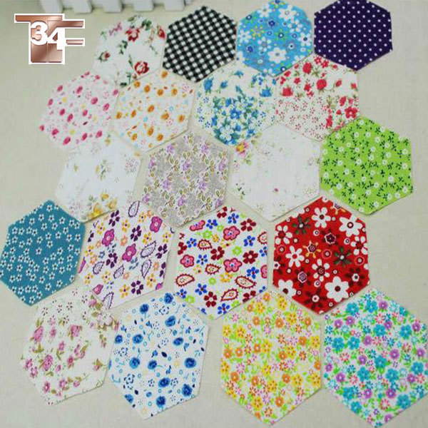 Aliexpress.com : Buy Crazy discount 100 Assorted pre cut pack size 1.5 Hexagon charm 100%cotton ...