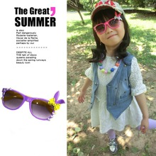 2015 Time limited New Cute Rabbit Baby Kids Sunglasses Child Goggles Bow Eyewear UV 400 Hot
