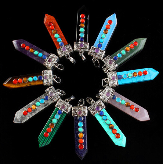 Free shipping wholesale 5pcs/lot women colorful vintage crystal point pendant necklace fashion jewery high quality special gift(China (Mainland))