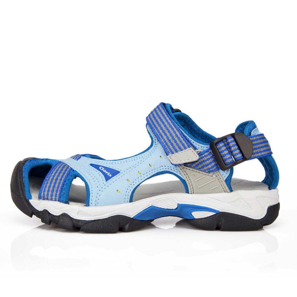 Clorts 2015 New PU Women Sandals Flat Shoes Outdoor Platform Shoes Velcro Women Platform Beach Shoes for women Casual SD-202A