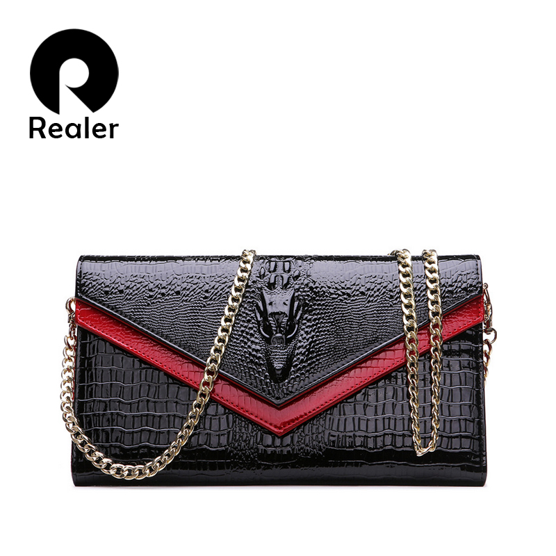 2016 Fashion Famous Brand Women Genuine Leather Wallet European Purse Crocodile Pattern Lady Messenger Bag(China (Mainland))