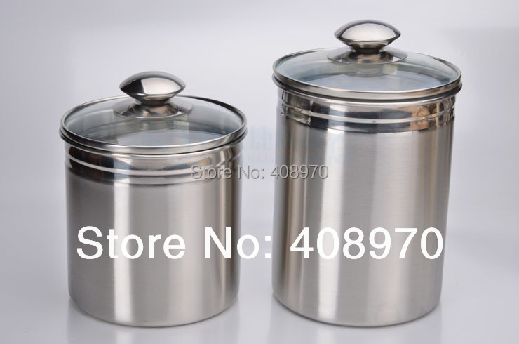 304 stainless steel 2 piece kitchen canister set global amici 3 piece cambridge stainless steel canister